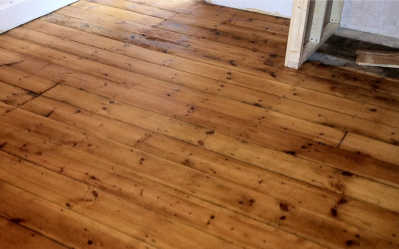 Pine Flooring After renovation